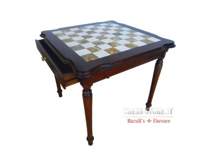 CHESS TABLES IN PRECIOUS WOOD WITH ALABASTER TOP online