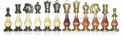 CHESS MEN IN SOLID BRASS AND WOOD  online