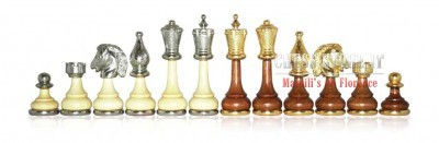CHESS MEN IN GOLD-SILVER PLATED METAL  online